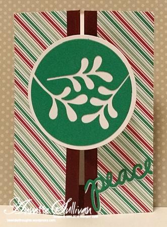 Christmas Greetings Emerald Mistletoe Peace