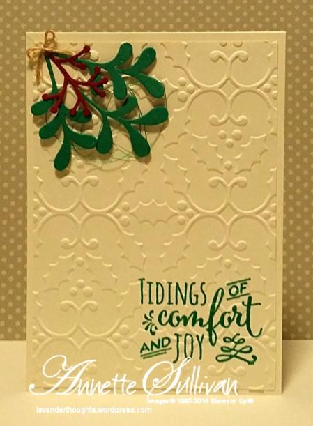 Christmas Pines Emerald Mistletoe Tidings