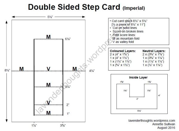 Double Sided Step Card Imperial