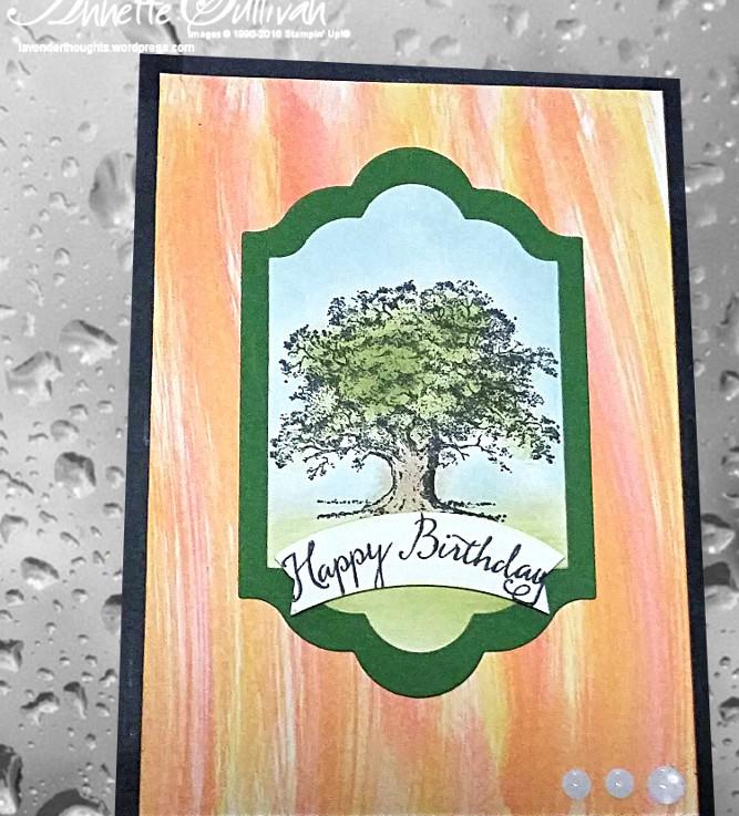 Lovely as a Tree Striped WipeOak
