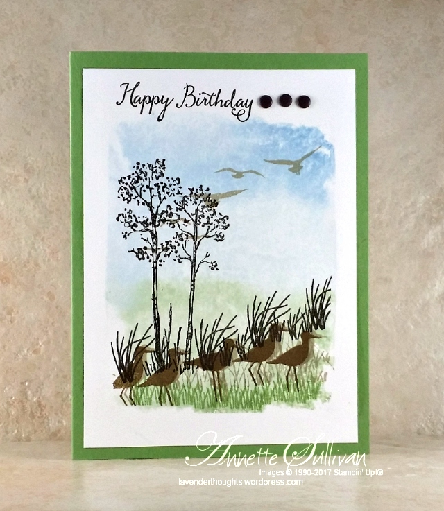 In the Meadow meets High Tide using Acrylic Block BackgroundTechnique