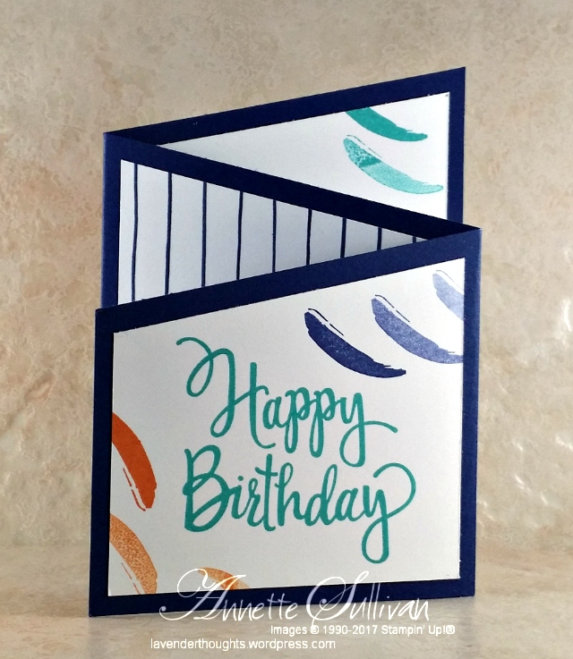 Trifold Angle Card with Stylized Birthday and Painters Palette andVIDEO