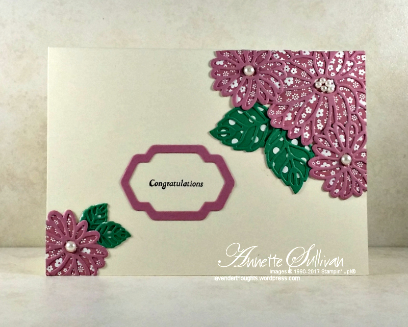 Creating different looks with die cuts using Stylish StemsFramelits