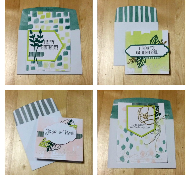 Part 2 – How to Create Quick and Easy Cards with Soft Sayings Card Kit andVIDEO