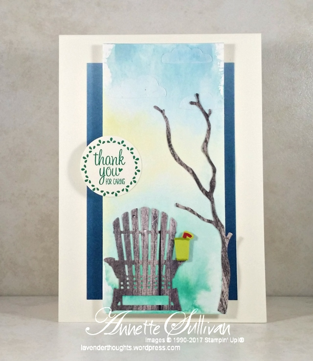 Watercolour Background relaxing in an AdirondackChair