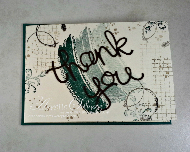 Quick and Easy Thank You Card with TimelessTextures