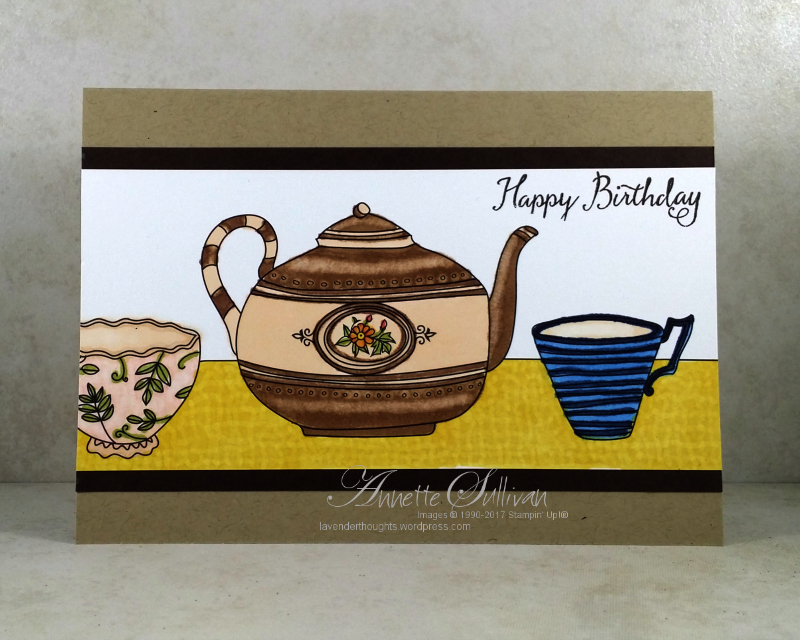 Tea Pot and Cups with Stampin' Blends AlcoholMarkers