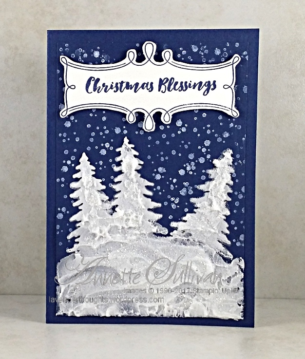 Embossing Paste create textured ChristmasTrees