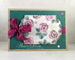 Graceful Garden Berry Tranquil Faux Linen