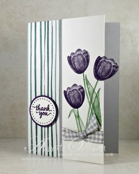 Tranquil Tulips Eggplant Slate