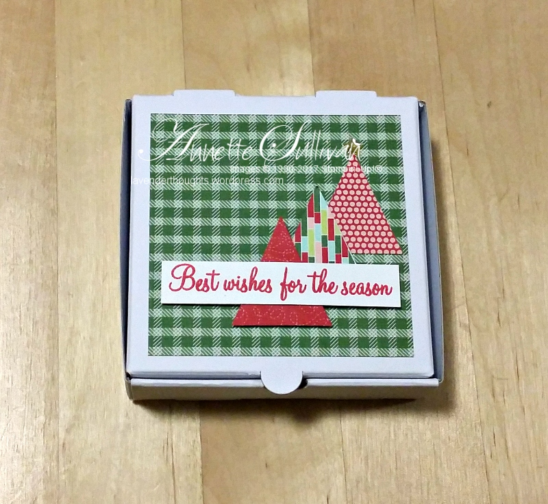 Decorate a small Pizza Box with Holly BerryHappiness
