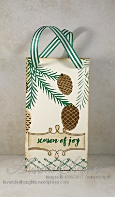 Christmas Pines Gift Bag FRONT