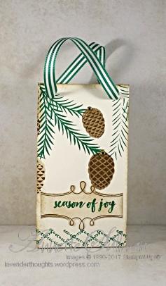 Christmas Pines Gift Bag FRONT