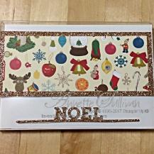 Christmas Stockings Gold Acetate Box