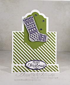 Hang Your Stocking Eggplant Olive Stand Up Label