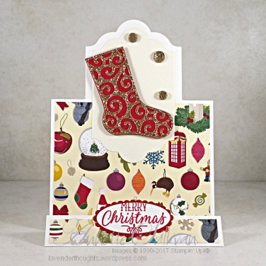 Hang Your Stocking Red Vanilla Stand Up Label