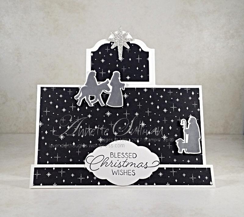 Night in Bethlehem on a Fancy Fold StepCard