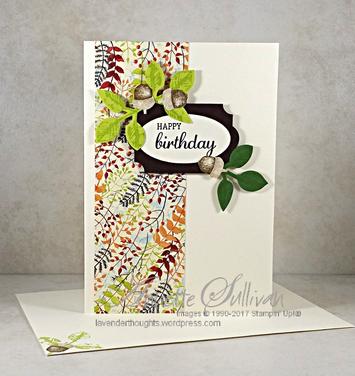 Flowers, Acorns and Christmas with Stampin' Up! PaintedHarvest