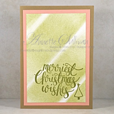 Watercolor Christmas Olive Wishes