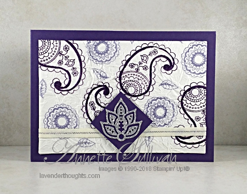 Faux Silk with Post Script and Paisley & Posies +VIDEO