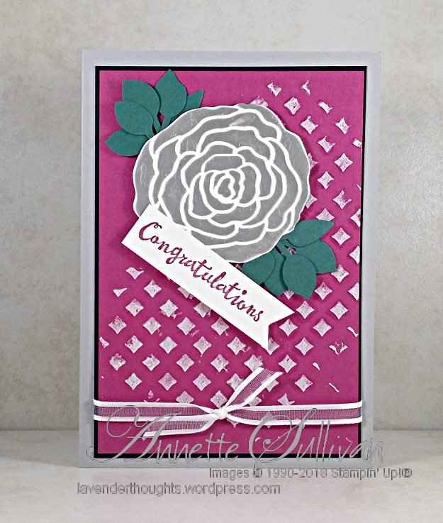 Petal Palette Silver Embossed Rose with FREEPDF