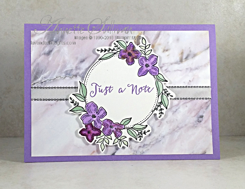 Floral Frames Soft Sayings HeatherNote