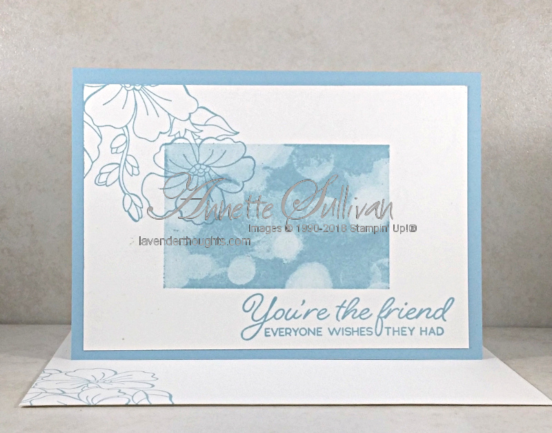 Quick and Easy Card: Blended Seasons with Bokeh Dots BalmyBlue