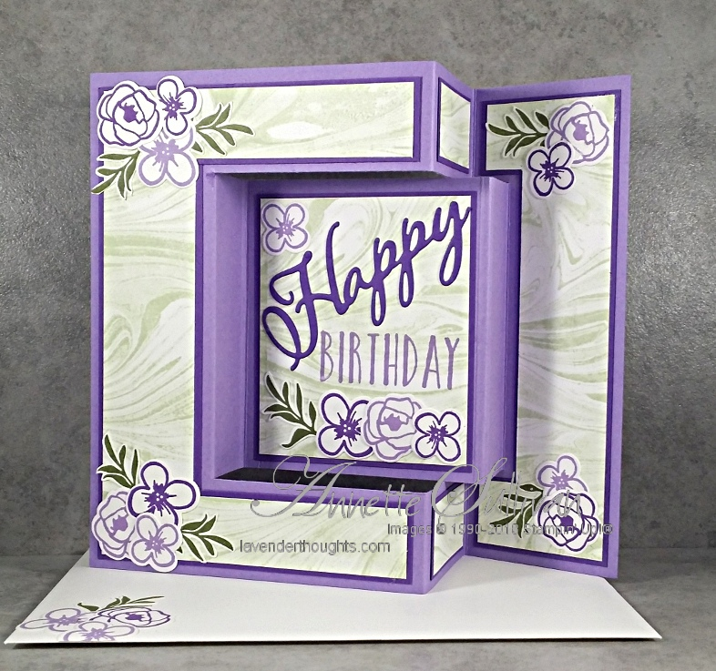 Fancy Fold Card with BouquetBlooms
