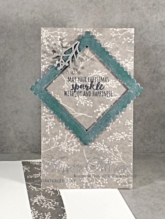 Christmas Pines – a narrow card for the SketchChallenge