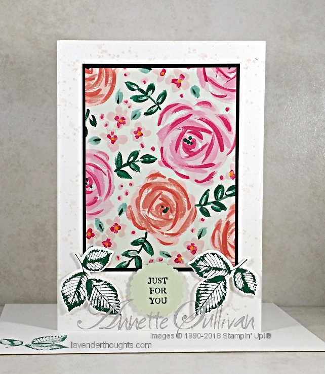 Quick and Easy Card with Garden Impressions Paper and Rooted inNature