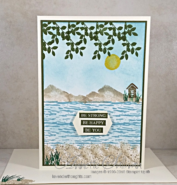 Using the Stamparatus for repeat / hinge stamping to create an oceanscene