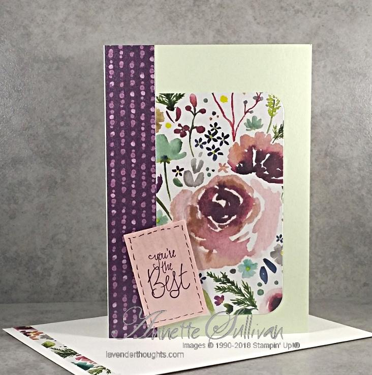 Frosted Floral Designer Paper for the SketchChallenge