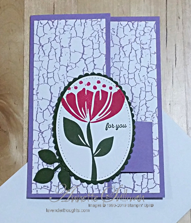 Fancy Fold Card with Bloom by Bloom and CracklePaint