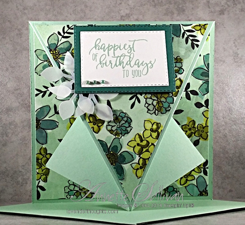 Fancy Fold Arrow Card with Picture PerfectBirthday