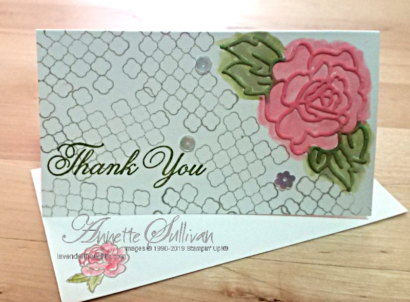 A Quick and Easy Note Card with ClimbingRoses
