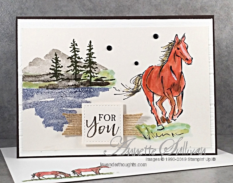 Watercolour images from Waterfront with horses from Let ItRide