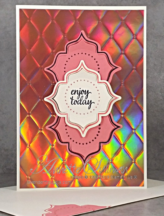 Eastern Beauty and embossed foil for the SketchChallenge