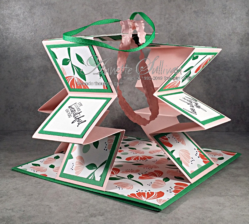 Accordion Lantern Pull Up Fancy FoldCard