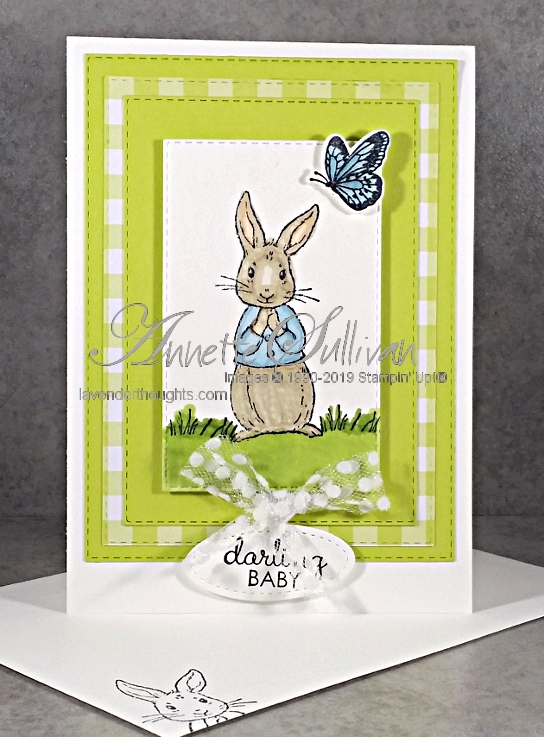 A Baby Card using FableFriends