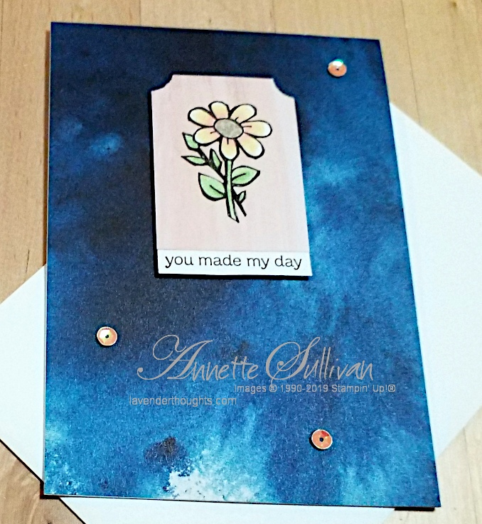 A quick and easy Flower Card with Hoot HootHooray