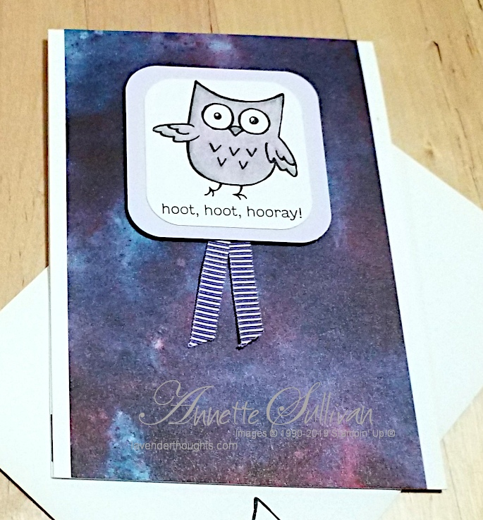 A quick and easy Card with Hoot HootHooray