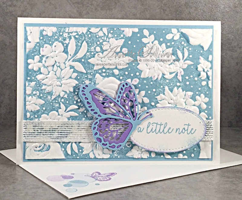 Faux Letterpress with Country Floral 3D EmbossingFolder