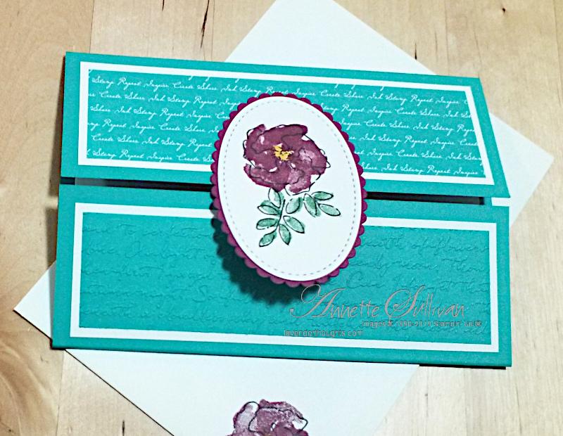 A Gatefold Fancy Fold card using InspiringIris