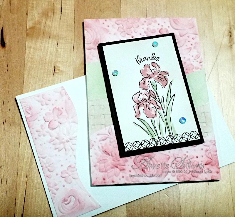 Embossing Folders and Irises for the SketchChallenge