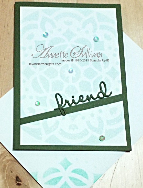 A Clean and Simple card using masks /stencils