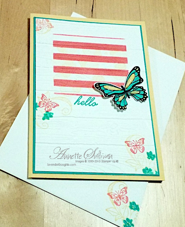 Butterflies for the Sketch and Color Challenges at Splitcoaststampers