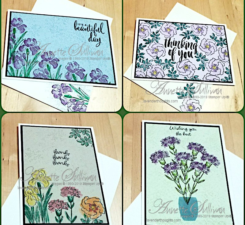 Two Step Stamping on ColouredCardstock