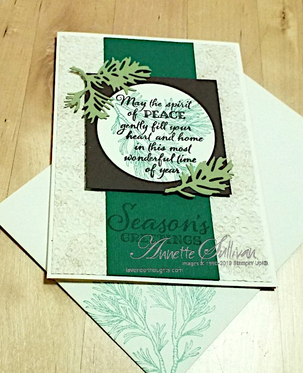 Peaceful Boughs and Eyelet Lace for the SketchChallenge