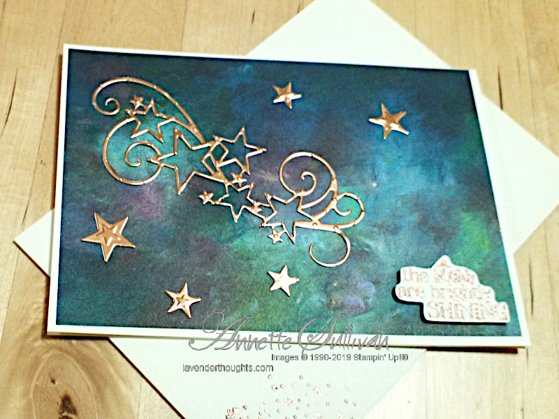 So Many Stars and a Copper Flourish for a Christmas Quick and EasyCard