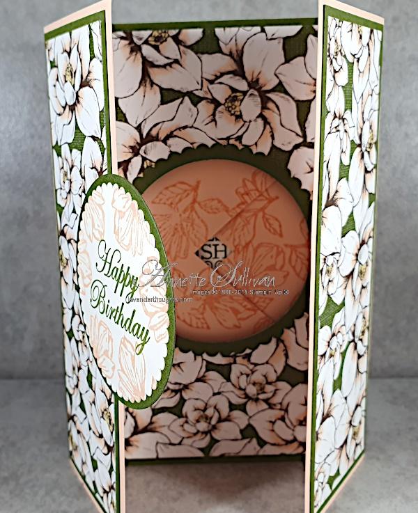 Fancy Fold Peek-a-boo Shutter Card with MagnoliaBlooms